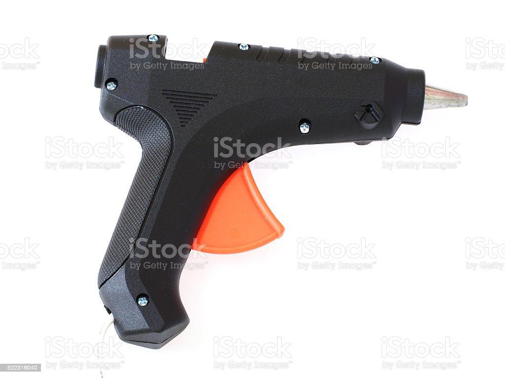 Glue gun isolated on white backgrounds stock photo