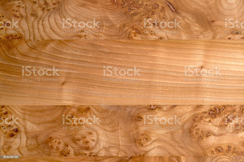 Glued Wooden Panels of Varying Grain for Backgrounds stock photo