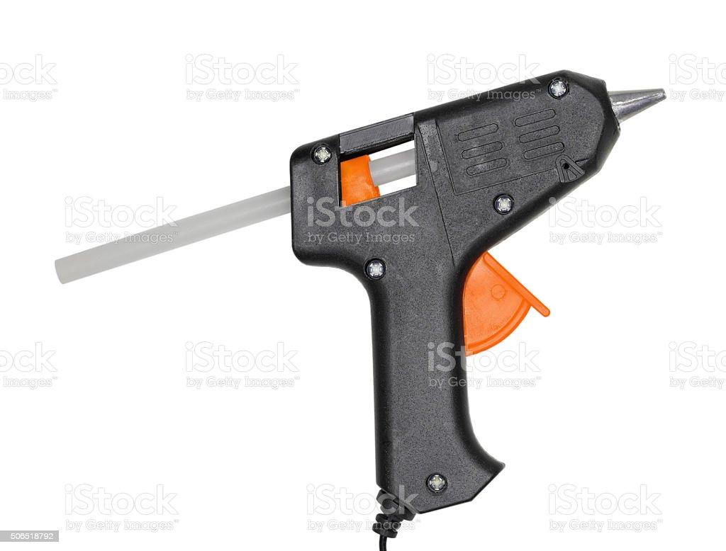 Glue-pistol on white stock photo