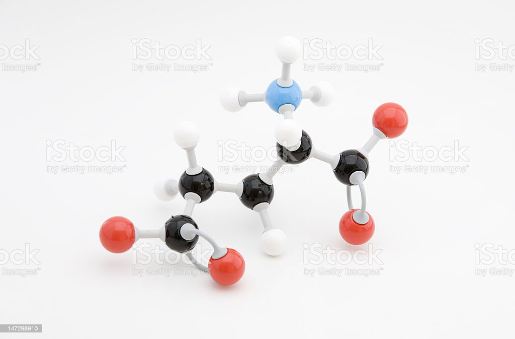 Glutamate Amino Acid Molecule royalty-free stock photo