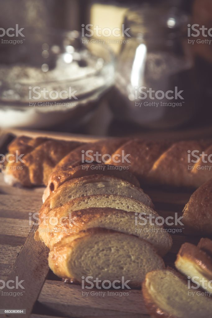 Gluten free baguette. stock photo