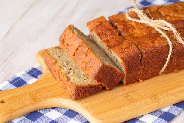 Gluten Free Banana Bread Breakfast Loaf stock photo