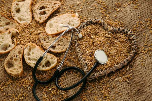 gluten free bread for people who got allergy. - impasto per il pane foto e immagini stock