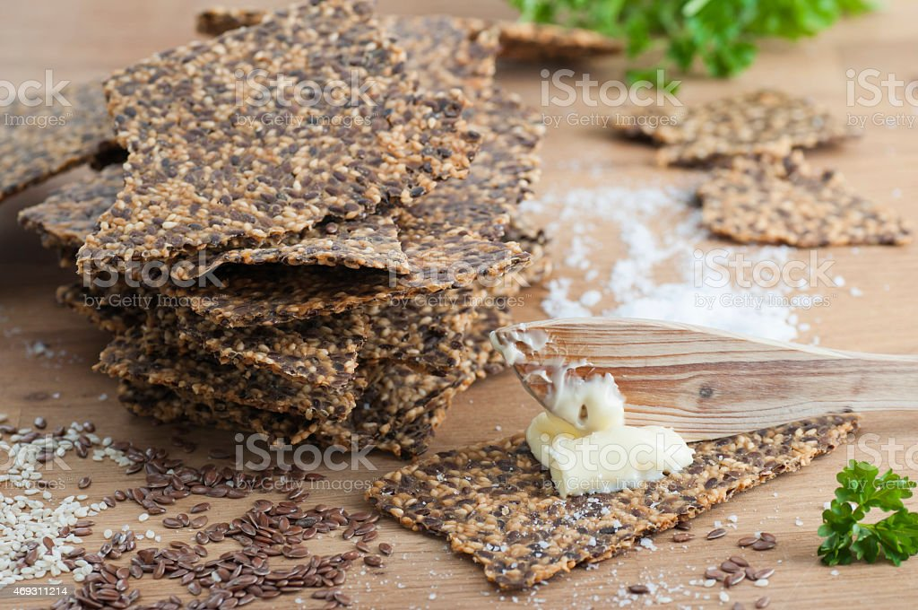 Gluten Free Crispbread bildbanksfoto