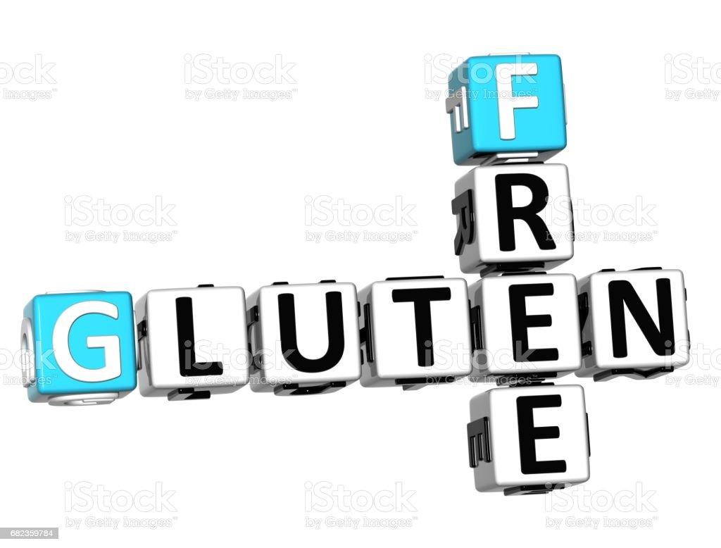 3D Gluten Free Crossword cube words foto stock royalty-free