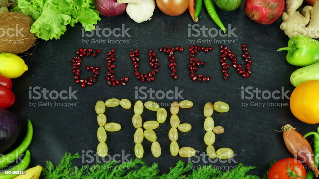 Gluten free fruit stop motion stock photo