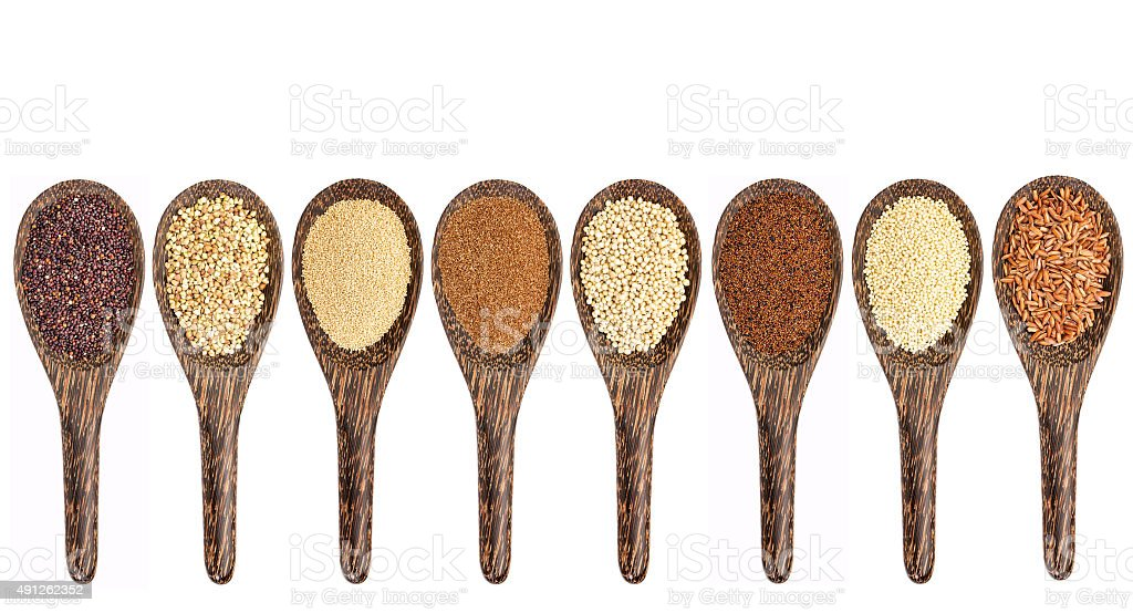 gluten free grain collection stock photo
