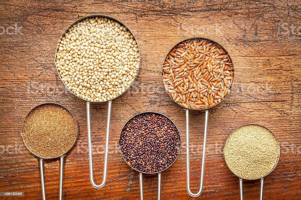 gluten free grain collection stock photo