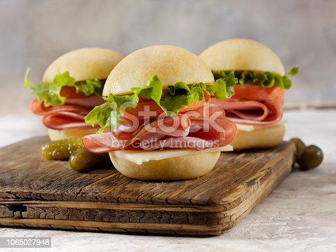 Gluten Free Ham Burger Sliders with Gluten Free Buns