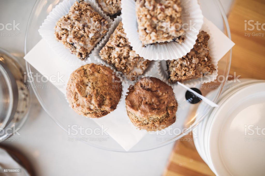 Gluten Free Pastries at Cafe stock photo