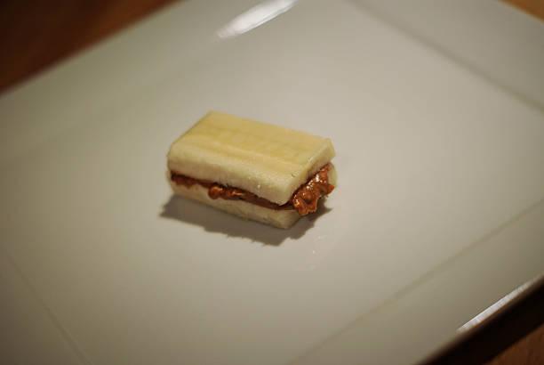 Gluten Free Peanut Butter Sandwich stock photo