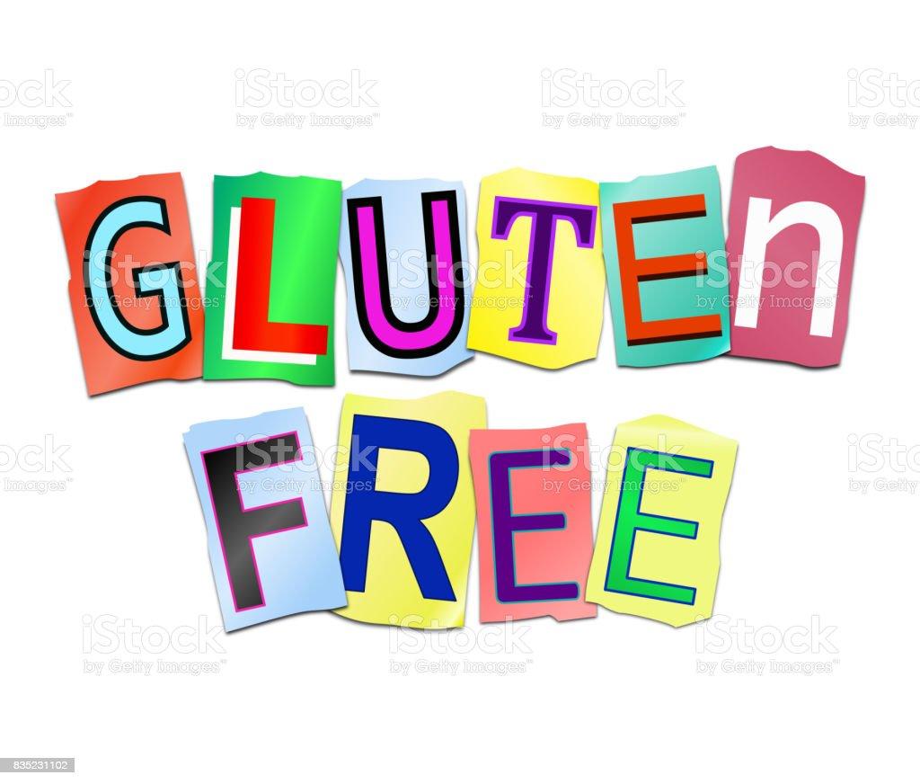 Gluten free. stock photo