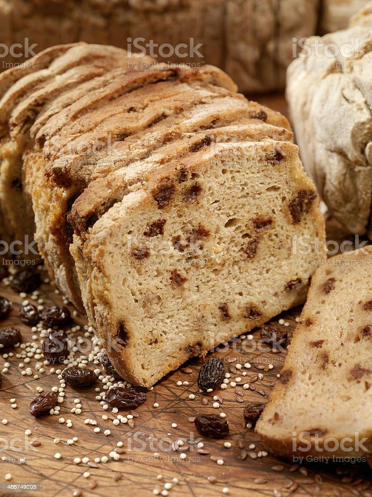 Gluten Free Raisin Bread stock photo