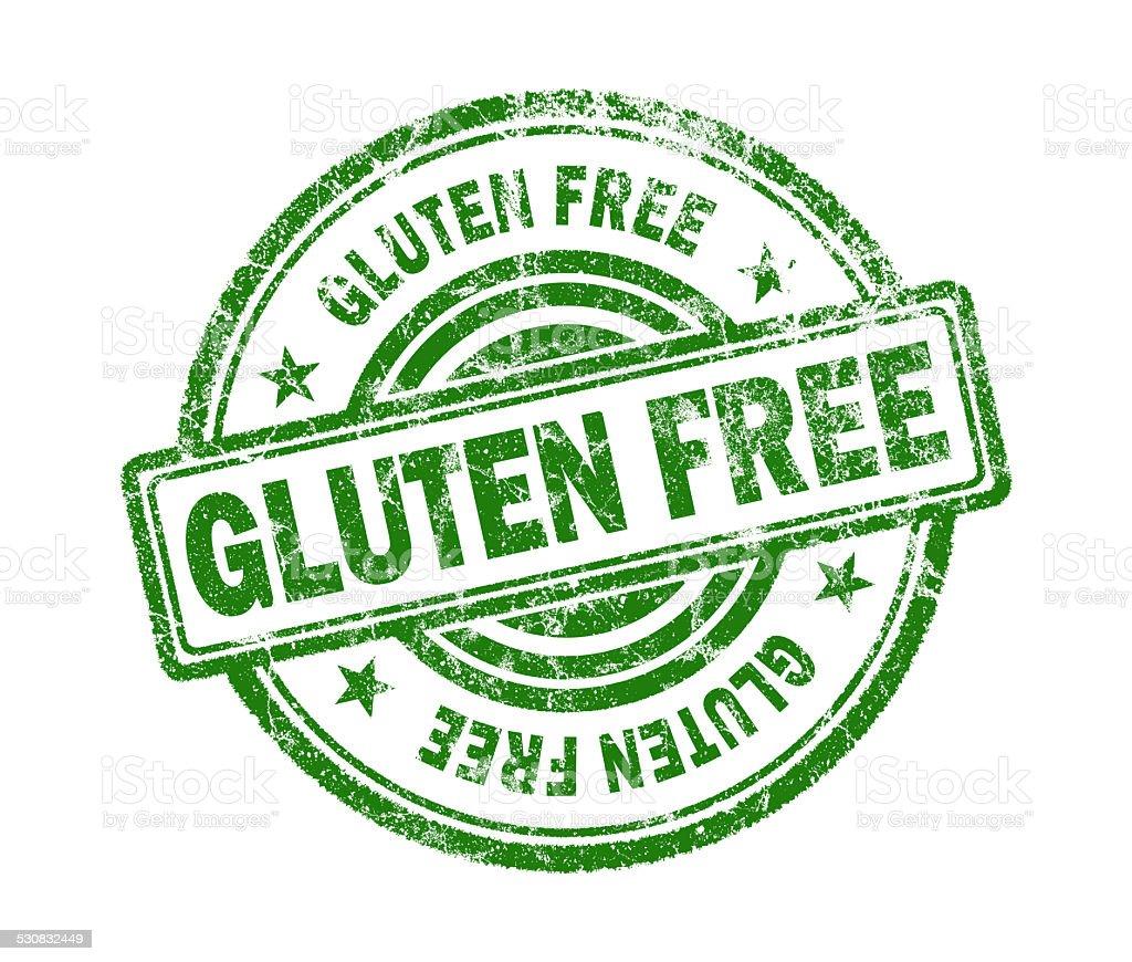 gluten free stamp on white background stock photo