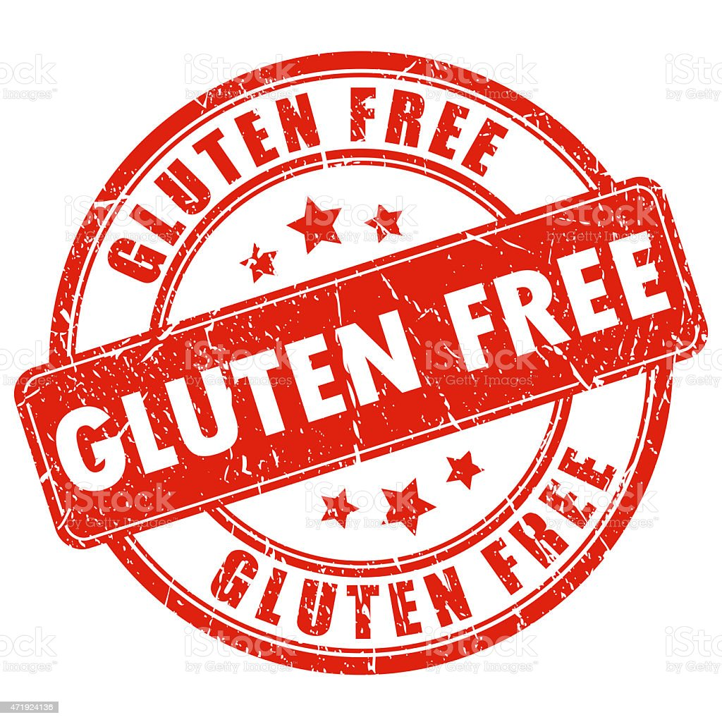 Gluten free stamp stock photo
