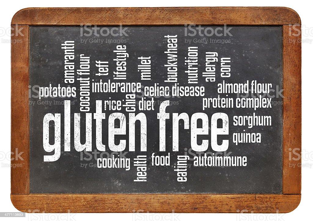 gluten free word cloud stock photo