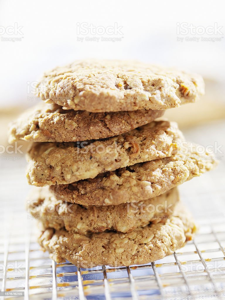 Gluten-Free Cookies on a Cooling Rack royalty-free stock photo