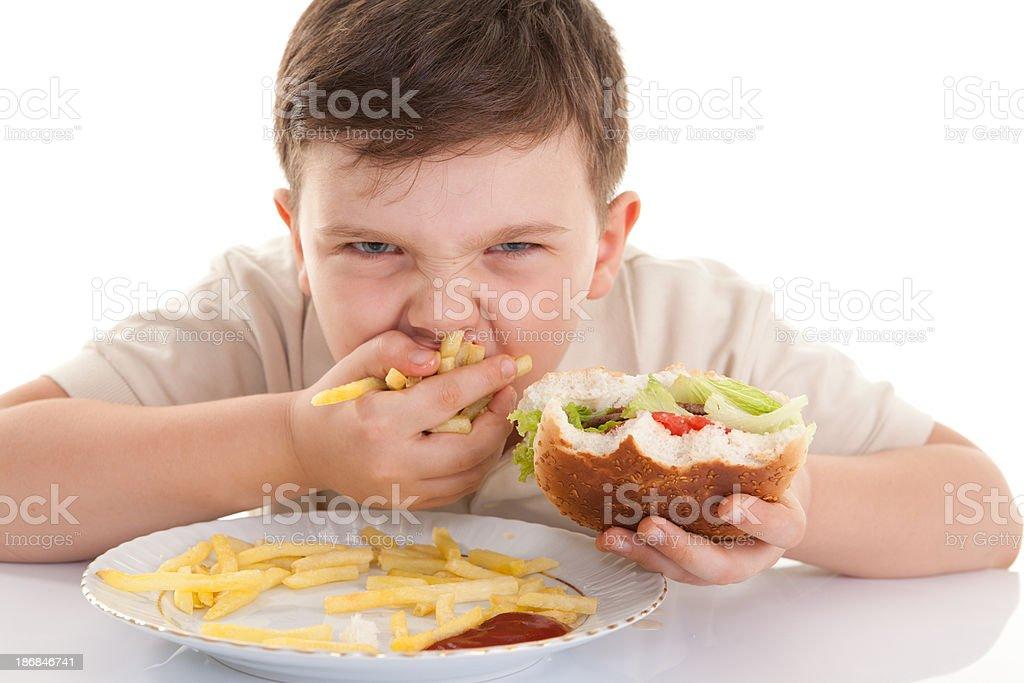 Glutton Child royalty-free stock photo
