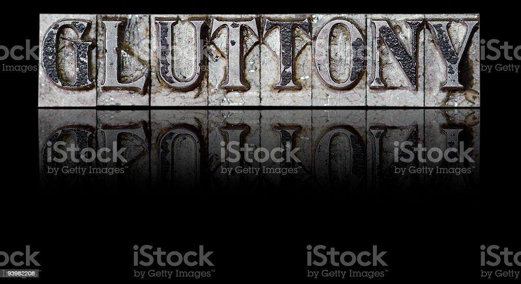 Gluttony; a Deadly Sin stock photo