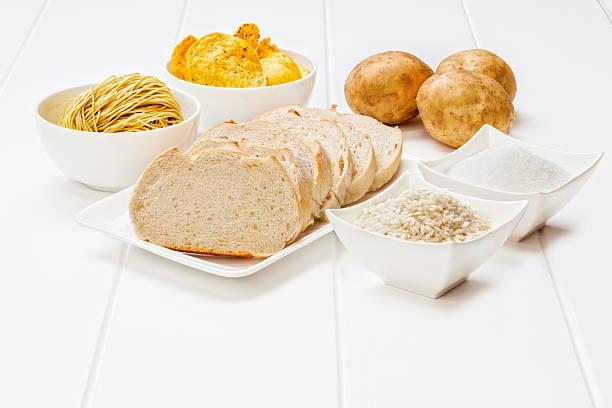 glycemic index - brot kohlenhydrate stock-fotos und bilder