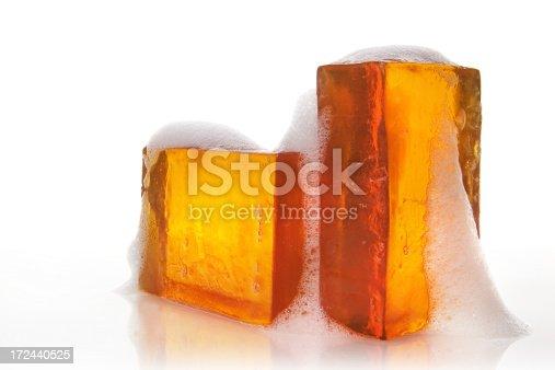 isolated glycerin soap