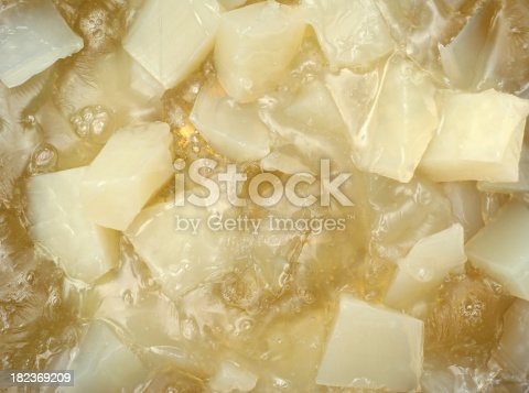 Close up of glycerin used in soap making.