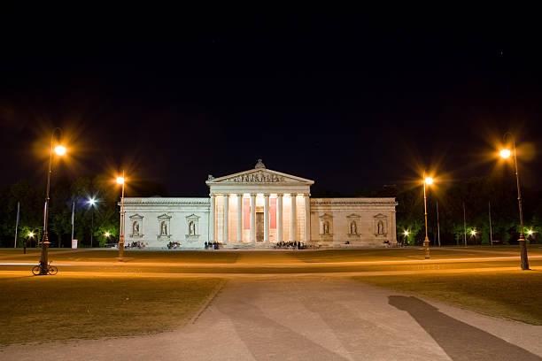 Glyptothek Munich at night stock photo