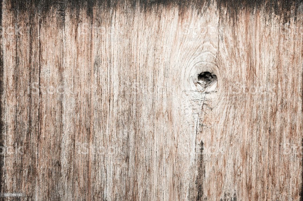 Gnarl wooden plank useful as background. royalty-free stock photo