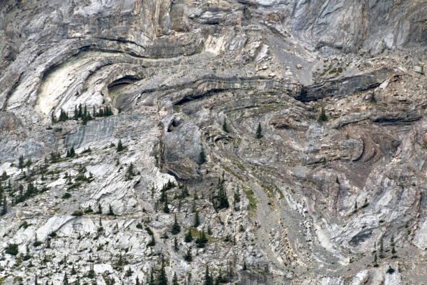 Gnarled mountainside stock photo