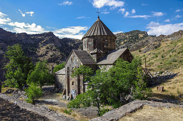 Gndevank monastery in canyon of Arpa river near Jermuk, Armenia Gndevank monastery in canyon of Arpa river near Jermuk, Armenia ARPA stock pictures, royalty-free photos & images
