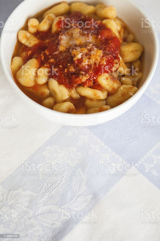 Gnocchi royalty-free stock photo