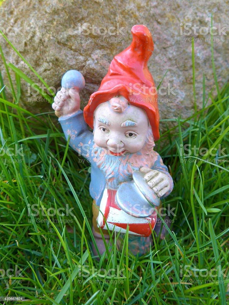 Gnome in the garden - Bild - stock photo