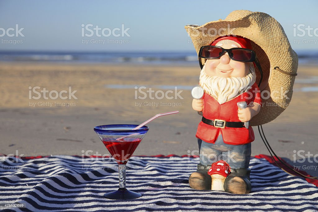 Gnome on Vacation royalty-free stock photo