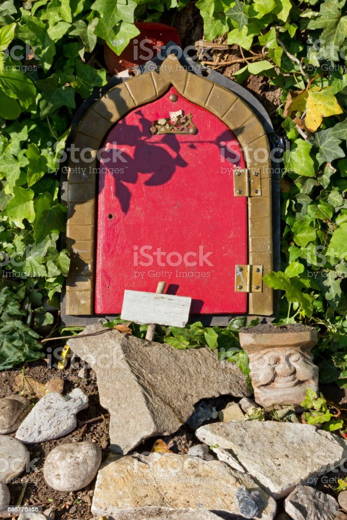 Gnome's House's Front Door stock photo