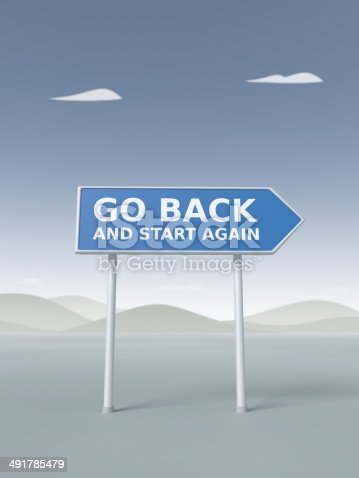 istock Go Back and Start Again XL 491785479