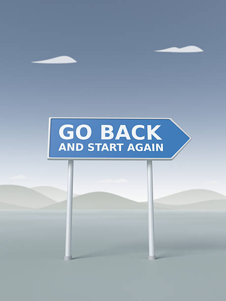 Go Back and Start Again XL stock photo