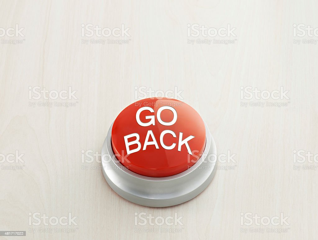 Go back Button stock photo
