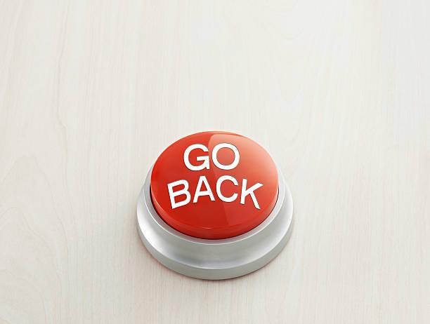 Go back Button stock photo