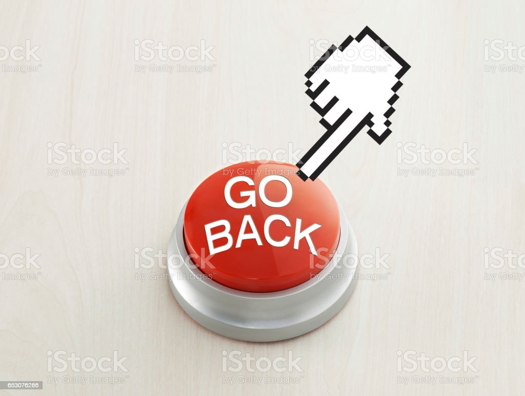 Go Back Button Royalty Free Stock Photo