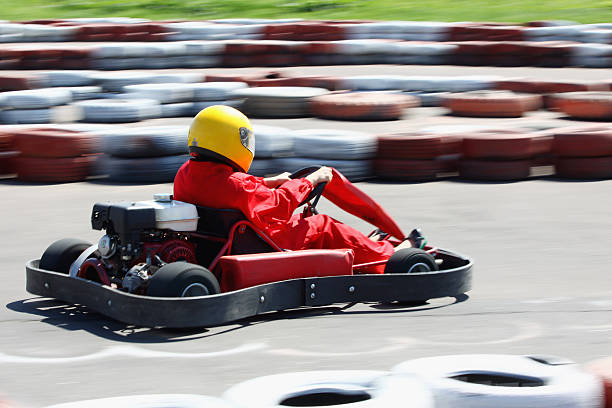 Go cart race stock photo