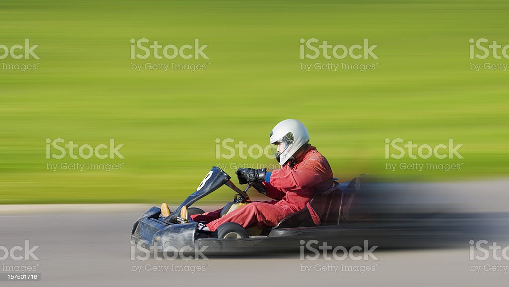 Go Cart Racing on Track stock photo