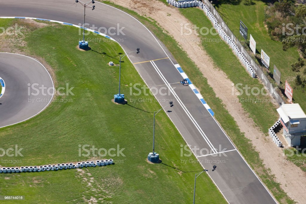Go Cart Racing Track - Royalty-free Above Stock Photo
