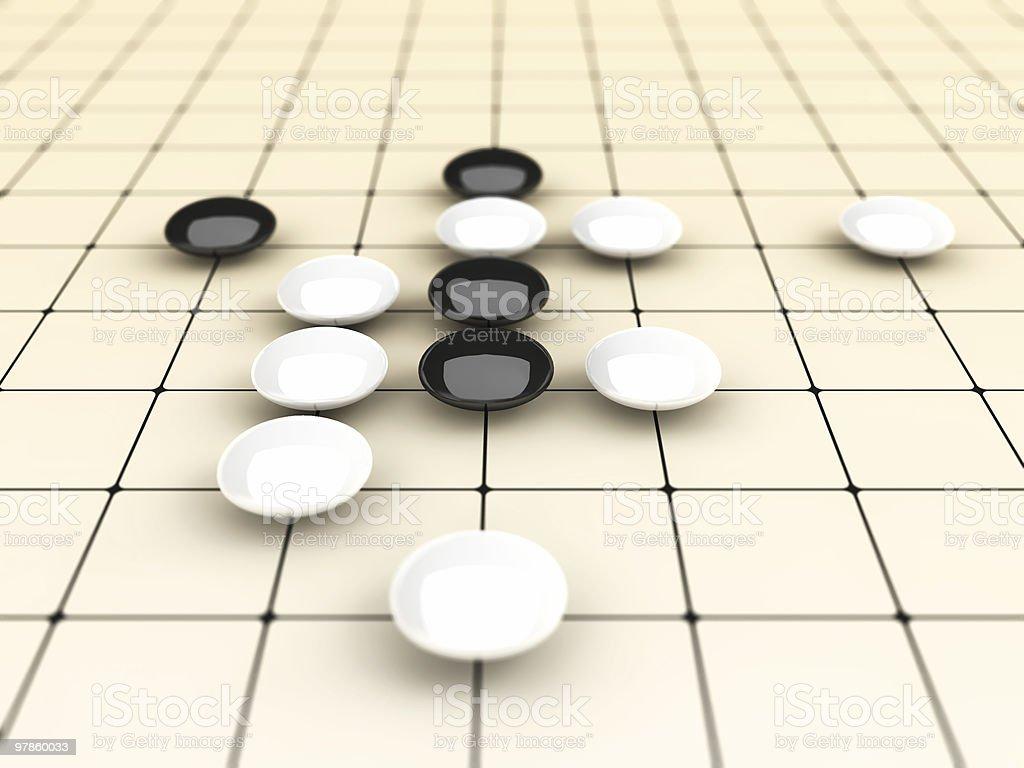Go. China Chess royalty-free stock photo