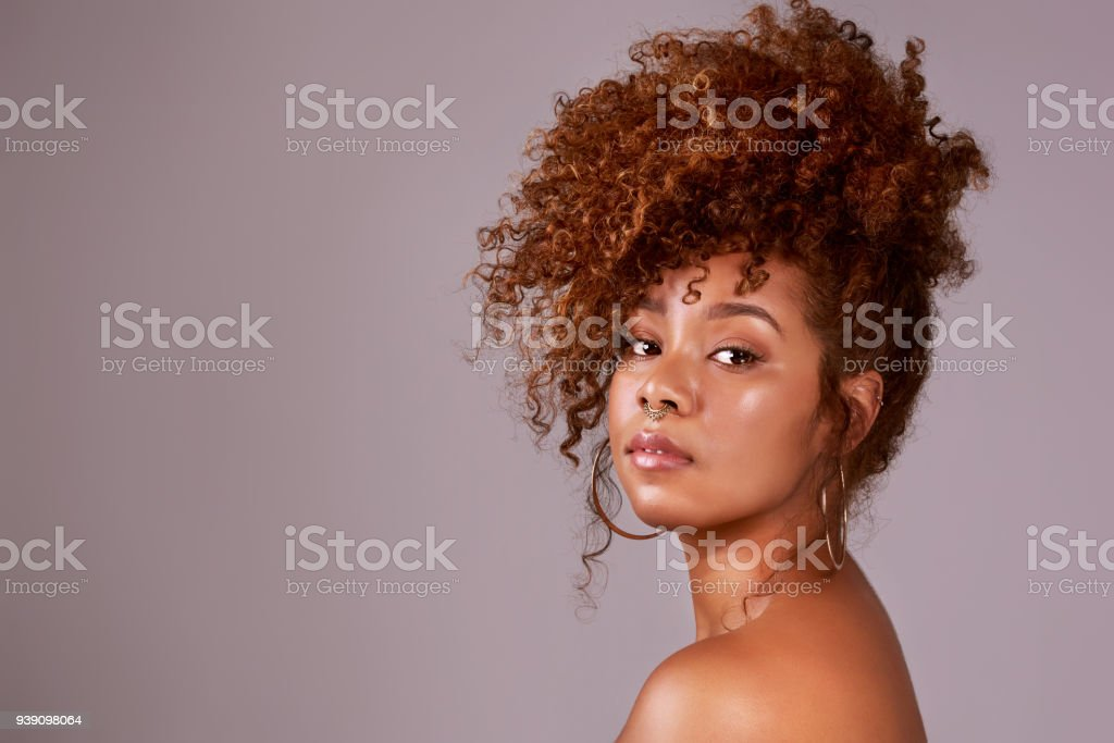 Go curly or go home stock photo