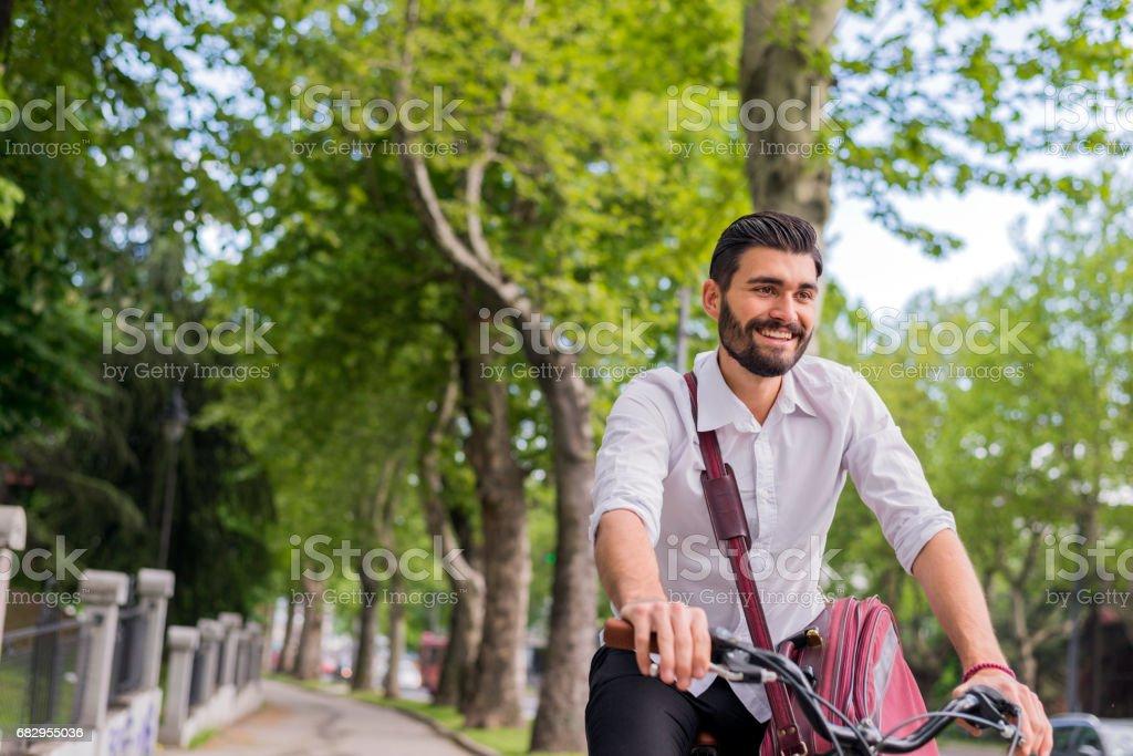 Vaya en todas partes en bicicleta. foto de stock libre de derechos