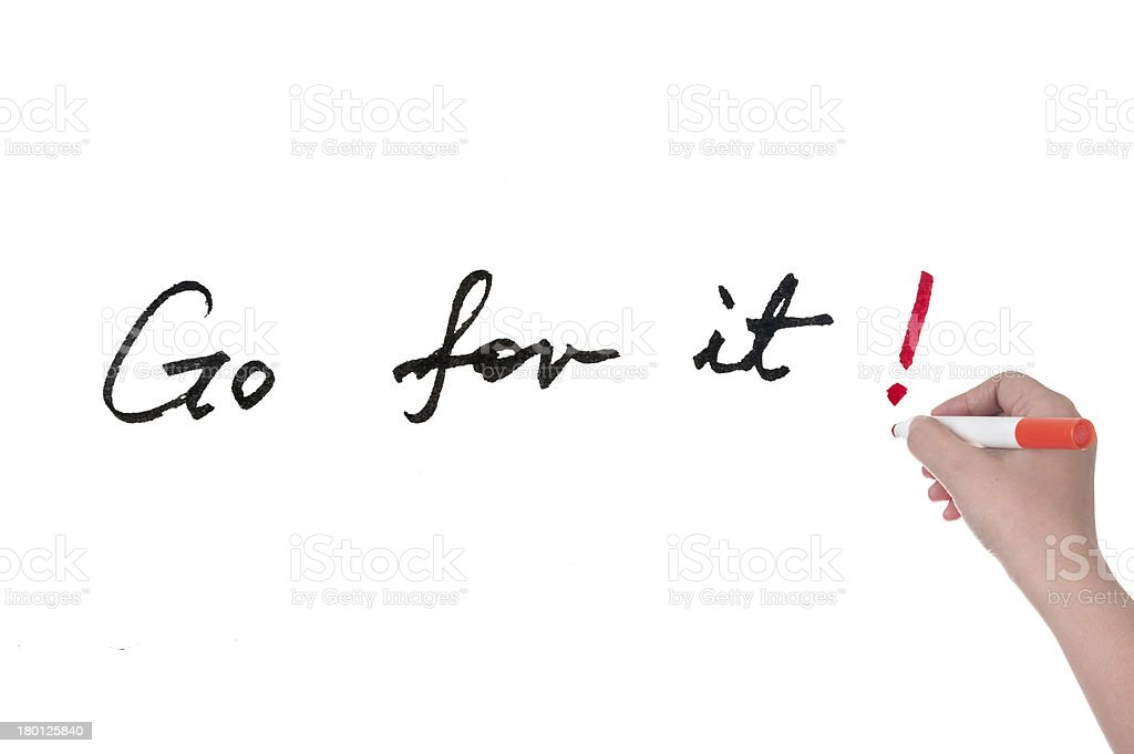 Go for it stock photo