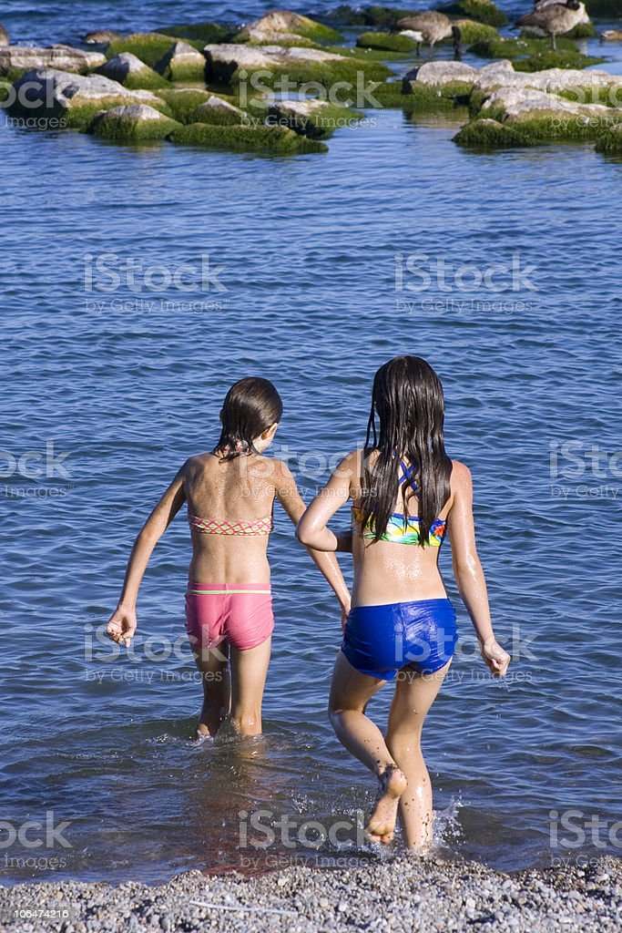 Go for swim royalty-free stock photo