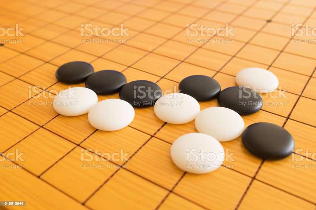 Go Game Board Background Royalty Free Stock Photo