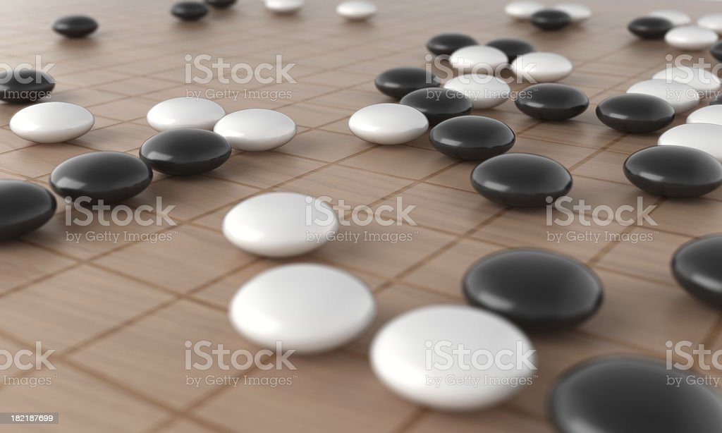 Go Game stock photo
