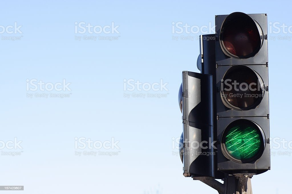 Go - green light traffic signal royalty-free stock photo